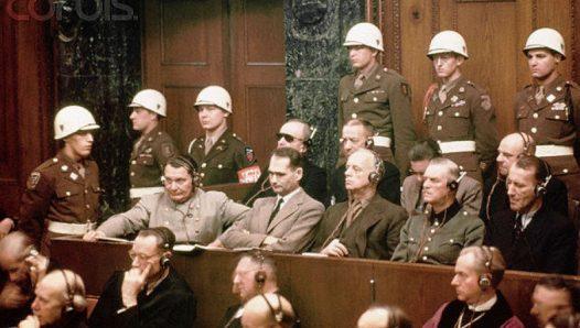 Международный военный трибунал в Нюрнберге. Скамья подсудимых.