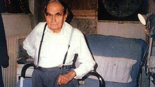 Рудольф Гесс в тюрьме Шпандау. 1986 год.